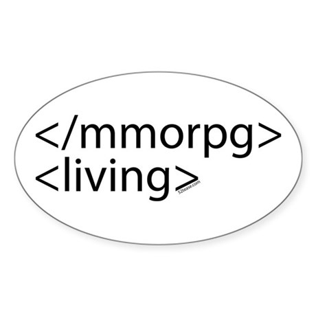 HTML Joke-MMORPGs Oval Sticker