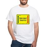 Two Way Traffic 3 White T-Shirt