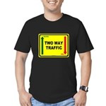 Two Way Traffic 3 Men's Fitted T-Shirt (dark)