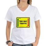 Two Way Traffic 3 Women's V-Neck T-Shirt