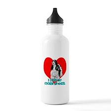 I Love My Cocker Spaniel Water Bottle