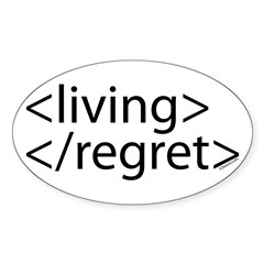 Begin Living End Regret HTML Oval Sticker