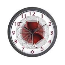 Wineglass Art Wall Clock