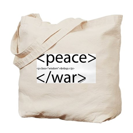 Begin Peace End War HTML Tote Bag