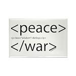 Begin Peace End War HTML Rectangle Magnet