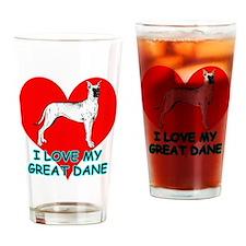 I Love My Great Dane Drinking Glass