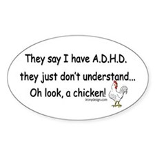 ADHD Chicken Decal