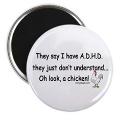 ADHD Chicken Magnet