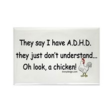 ADHD Chicken Rectangle Magnet