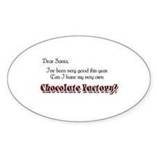 Dear Santa Oval Decal