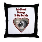My Heart Belongs To My Gerbils Throw Pillow