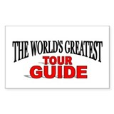 """The World's Greatest Tour Guide"" Decal"