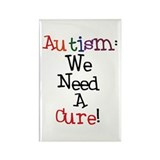 Autism Awareness Cure Rectangle Magnet (10 pack)