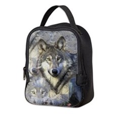 Wolf Neoprene Lunch Bag