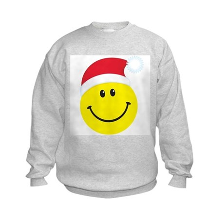 Santa Smiley Face: Kids Sweatshirt