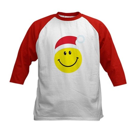Santa Smiley Face: Kids Baseball Jersey
