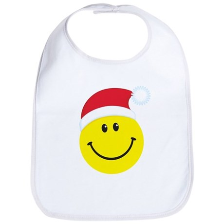 Santa Smiley Face: Bib