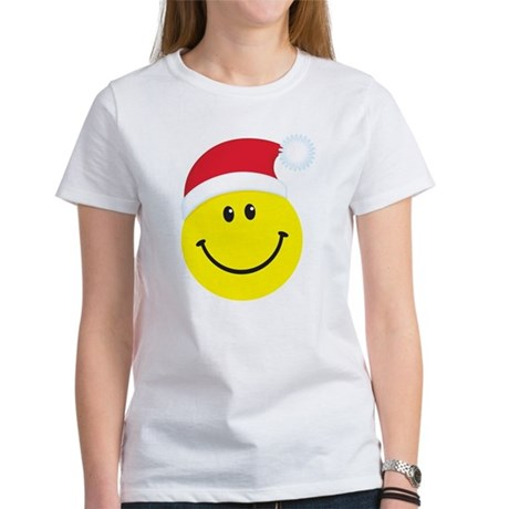 Santa Smiley Face: Women's T-Shirt