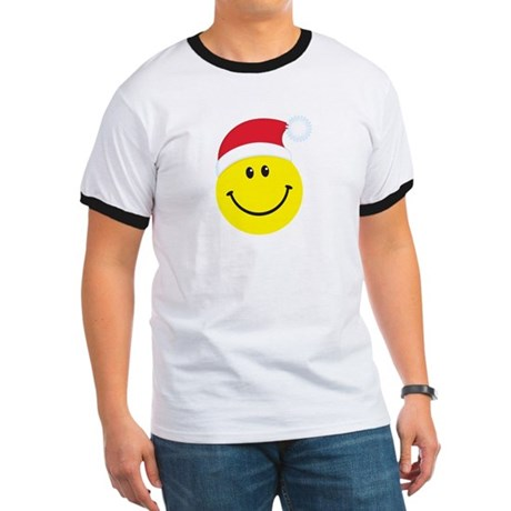 Santa Smiley Face: Ringer T