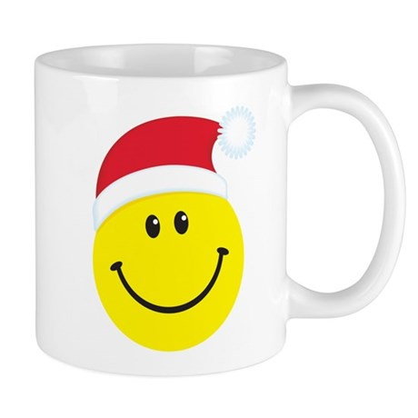 Santa Smiley Face: Mug