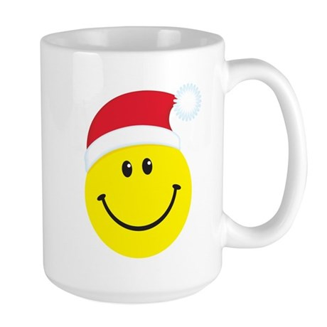 Santa Smiley Face: Large Mug