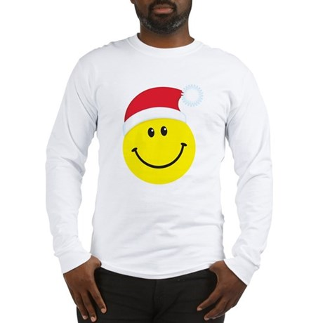 Santa Smiley Face: Long Sleeve T-Shirt