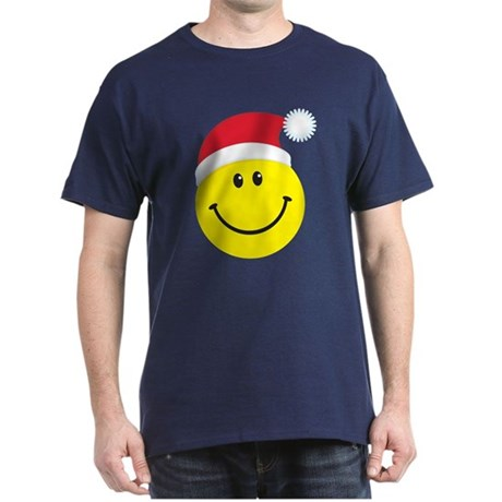 Santa Smiley Face: Dark T-Shirt