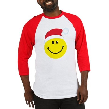 Santa Smiley Face: Baseball Jersey