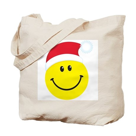 Santa Smiley Face: Tote Bag