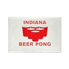 Indiana Beer Pong Rectangle Magnet