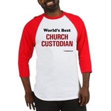 World's Best Church Custodian Baseball Jersey