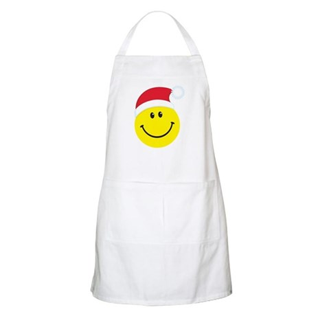 Santa Smiley Face: BBQ Apron