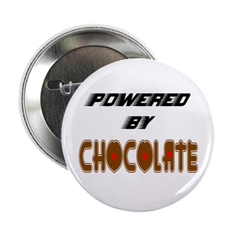 "Powered by Chocolate 2.25"" Button (10 pack)"
