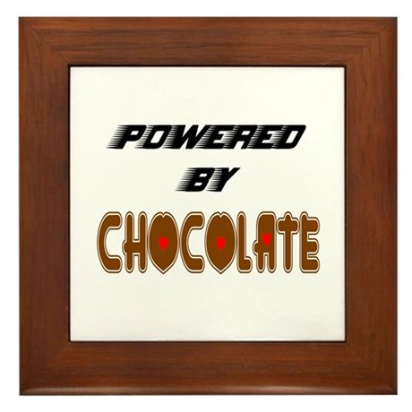 Powered by Chocolate Framed Tile