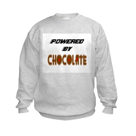 Powered by Chocolate Kids Sweatshirt