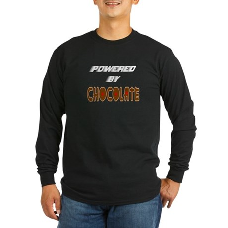 Powered by Chocolate Long Sleeve Dark T-Shirt