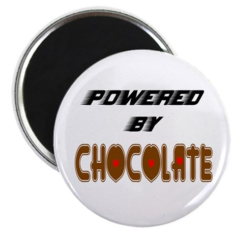 "Powered by Chocolate 2.25"" Magnet (10 pack)"