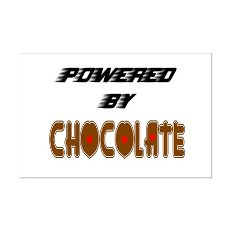 Powered by Chocolate Mini Poster Print
