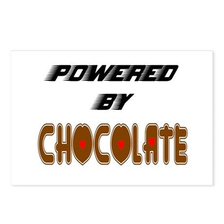 Powered by Chocolate Postcards (Package of 8)
