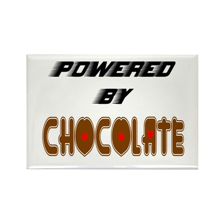 Powered by Chocolate Rectangle Magnet (100 pack)