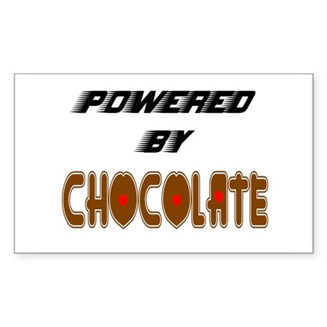 Powered by Chocolate Rectangle Sticker
