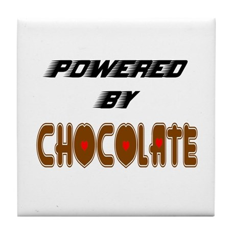 Powered by Chocolate Tile Coaster