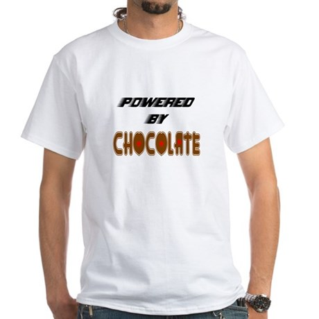 Powered by Chocolate White T-Shirt