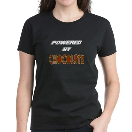Powered by Chocolate Women's Dark T-Shirt