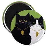 Black &amp; Tuxedo CATS In Love ART Magnet