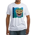 Greek Mask Fitted T-Shirt