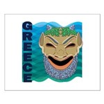 Greek Mask Small Poster