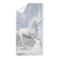 White Unicorn 2 Beach Towel