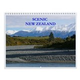 Scenic New Zealand wall calendar