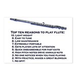 Flute Top 10 Postcards (Package of 8)